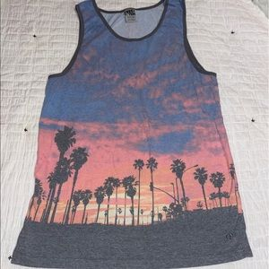 California sunset tank top